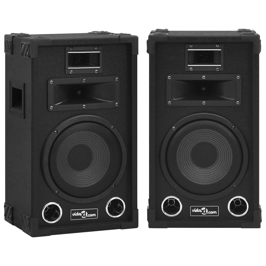 vidaXL Boxe Hifi de scenă pasive profesionale, 2 buc., negru, 800 W vidaxl.ro