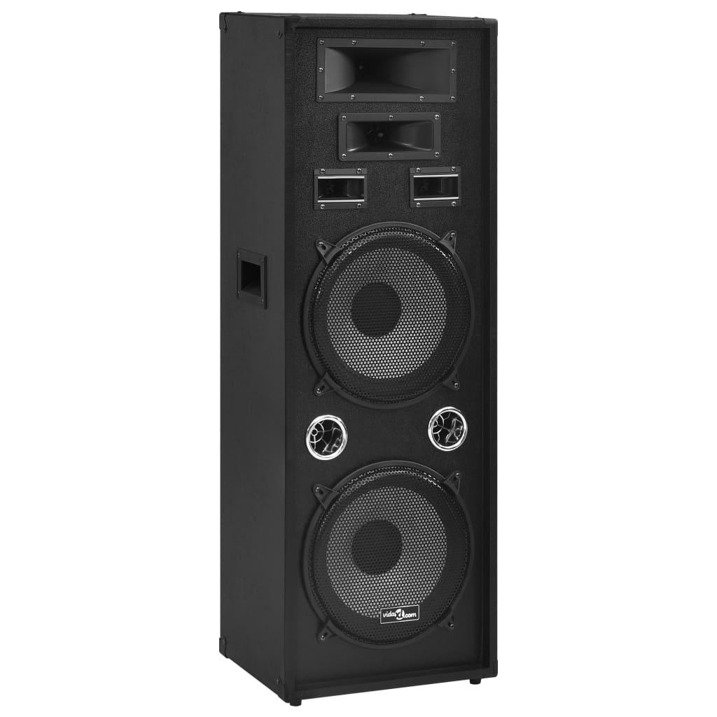 vidaXL Boxă Hifi de scenă profesională pasivă, negru, 1000 W vidaxl.ro