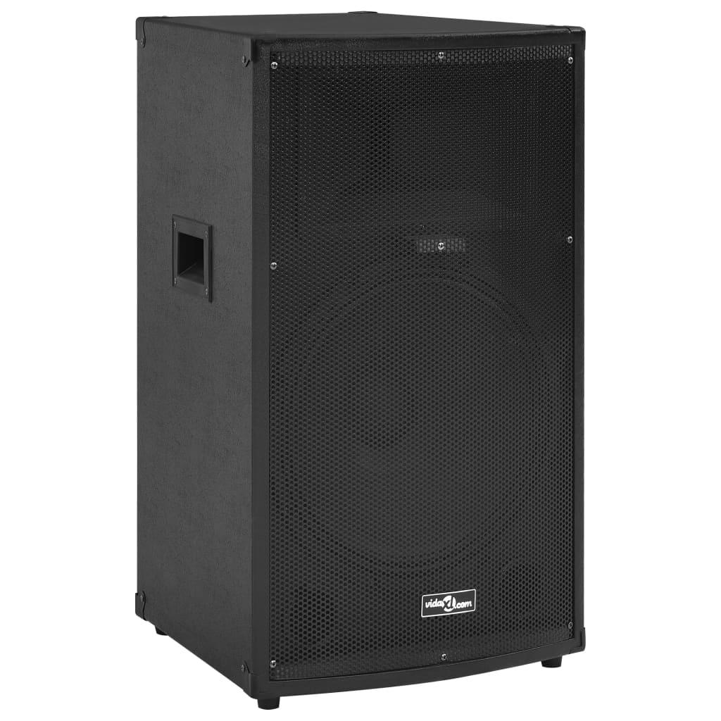 vidaXL Boxă Hifi de scenă profesională pasivă negru 43x43x75 cm 1200 W imagine vidaxl.ro