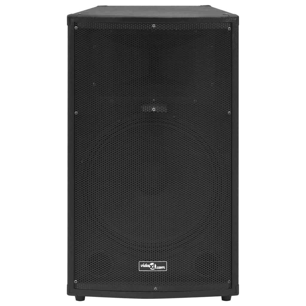 vidaXL Hifi-podiumluidspreker passief 1200 W 43x43x75 cm zwart