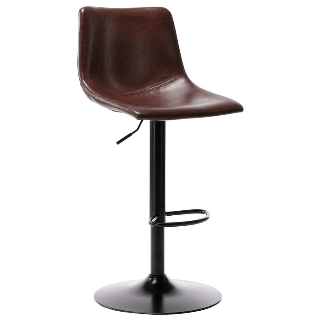 Barová stolička leskle hnědá umělá kůže