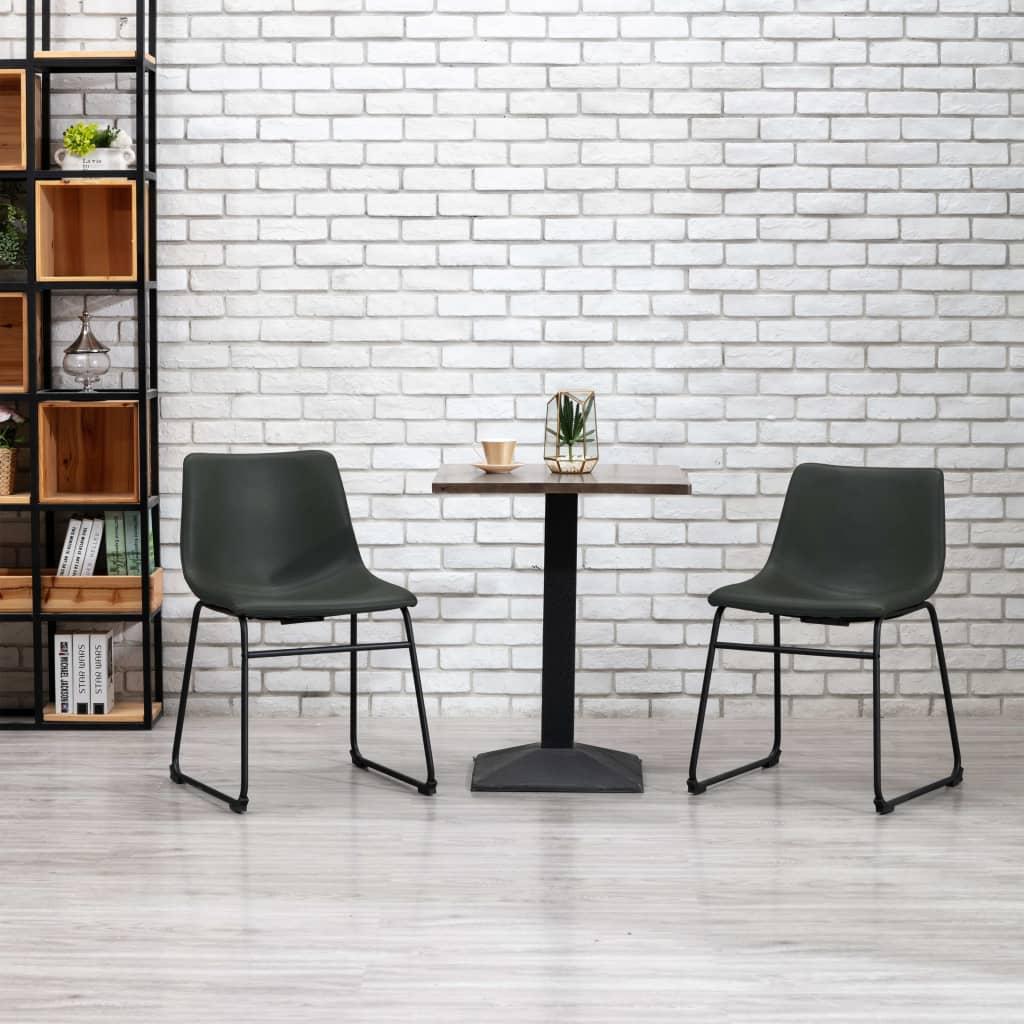 Jídelní židle šedá umělá kůže