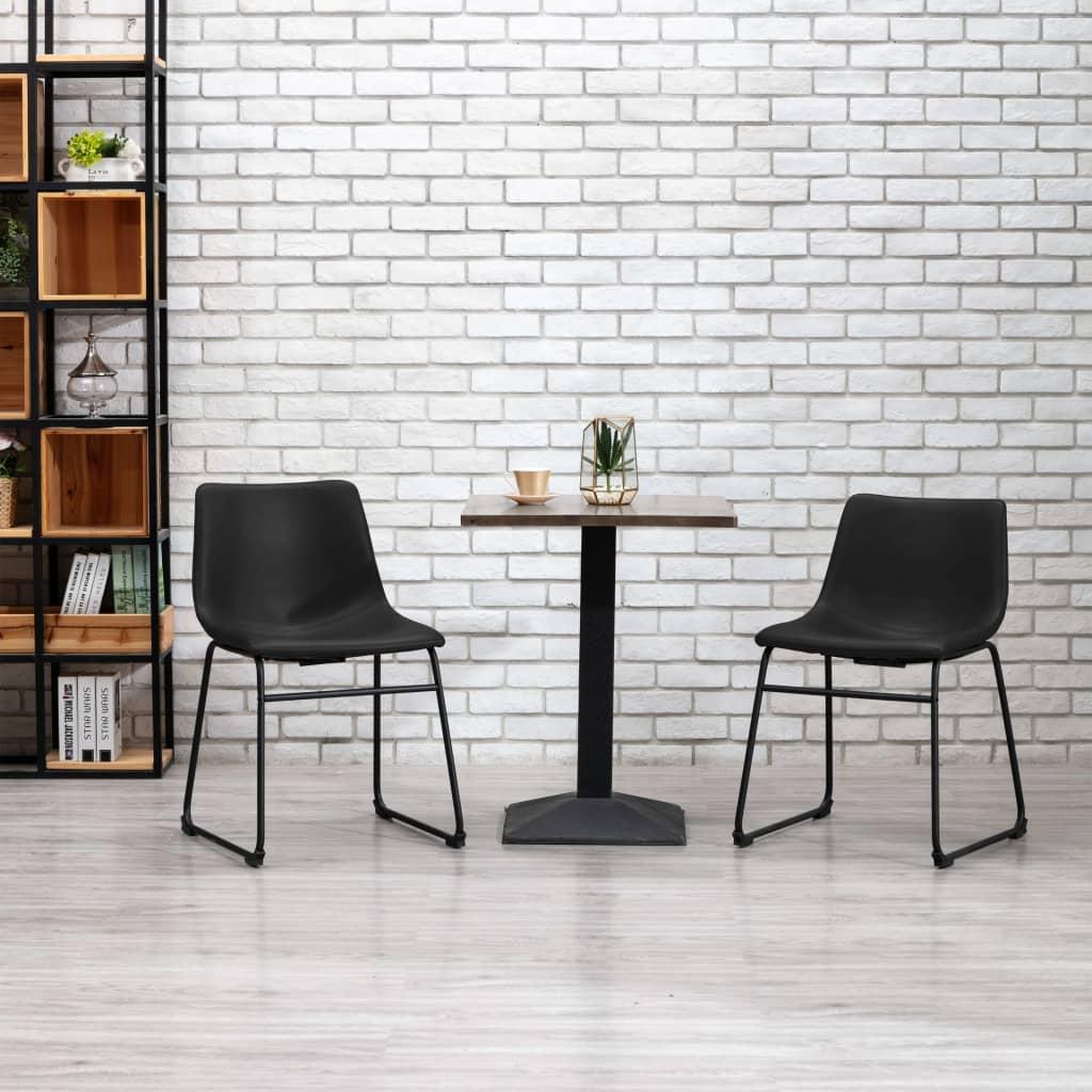 Jídelní židle černá umělá kůže