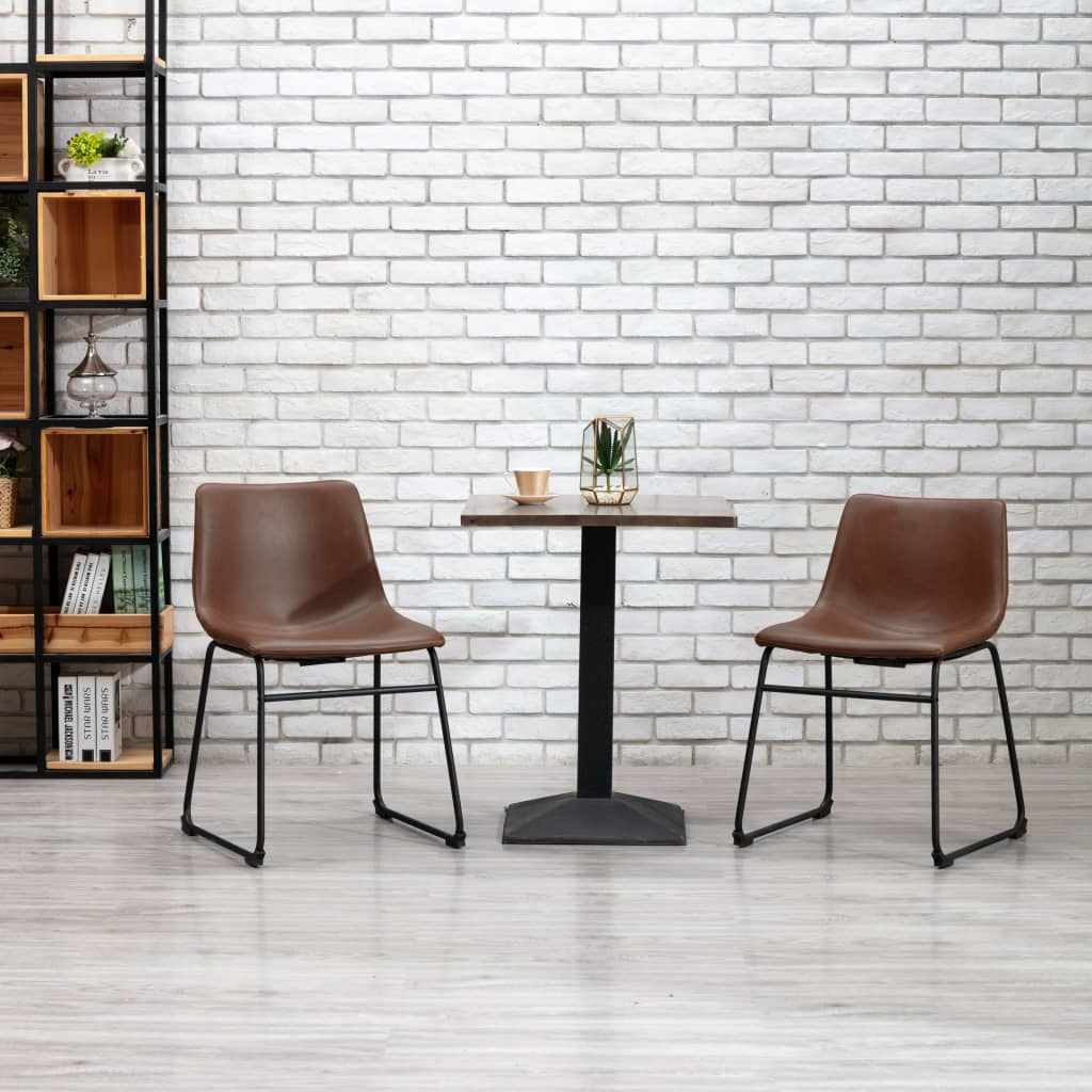 Jídelní židle světle hnědá umělá kůže
