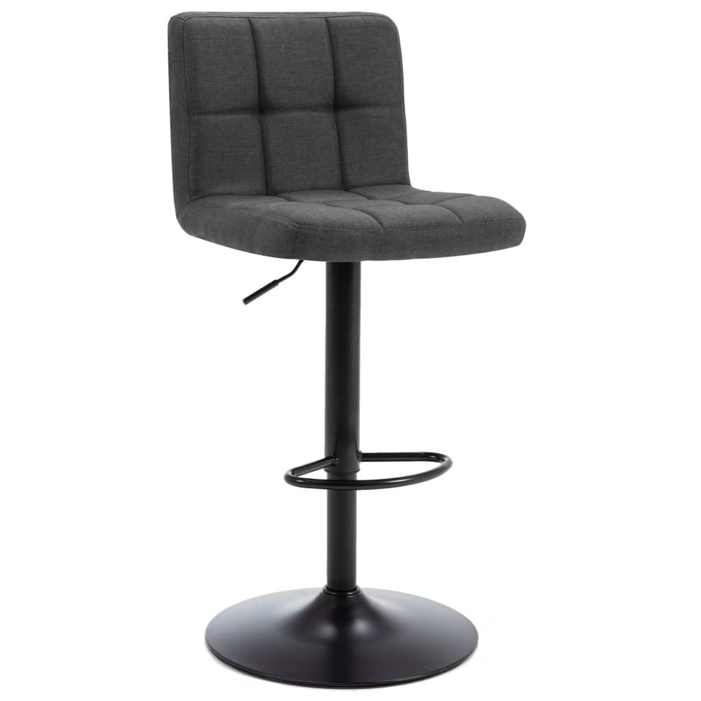 Barová stolička tmavě šedá textil