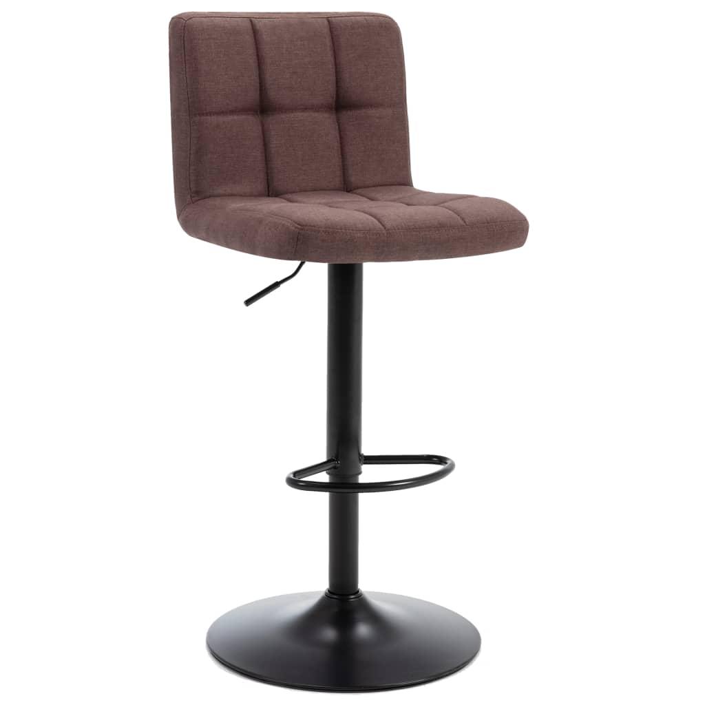 Barová stolička hnědá textil