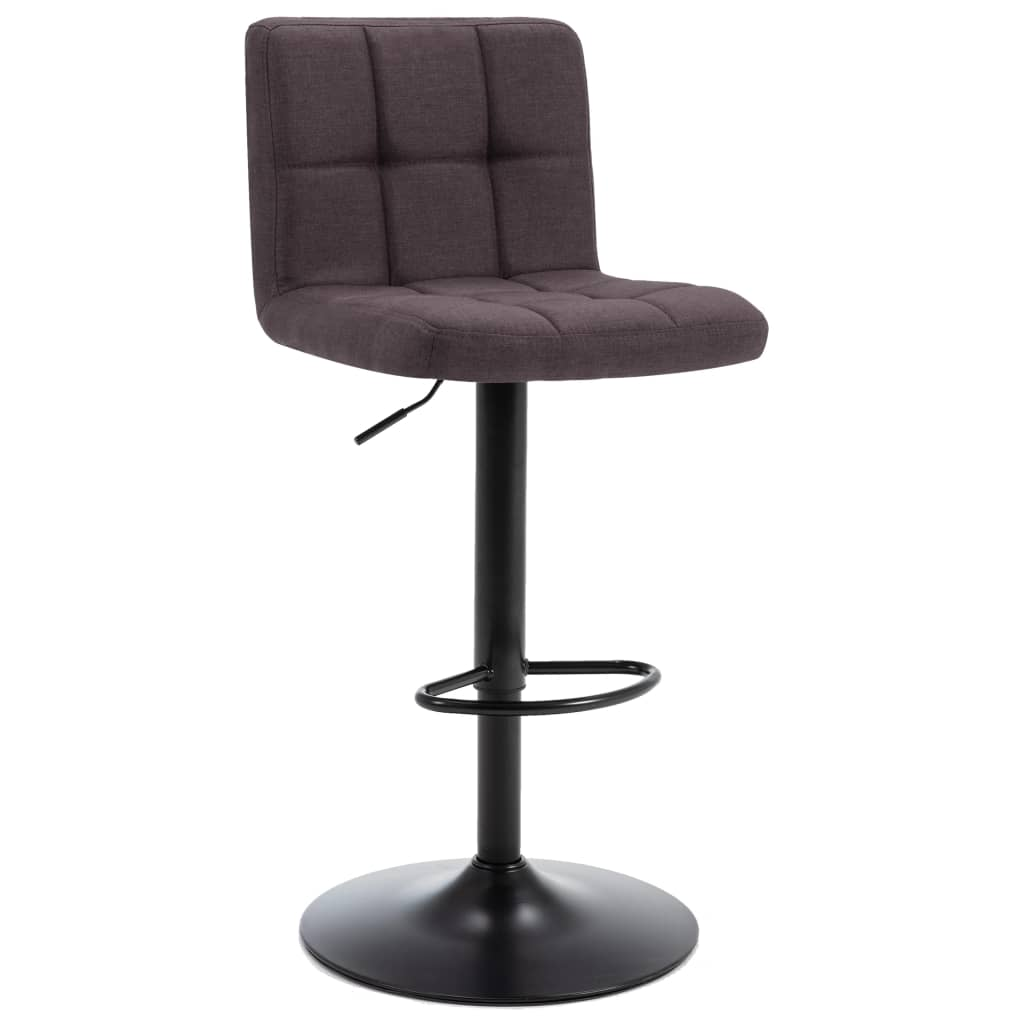 Barová stolička tmavě hnědá textil