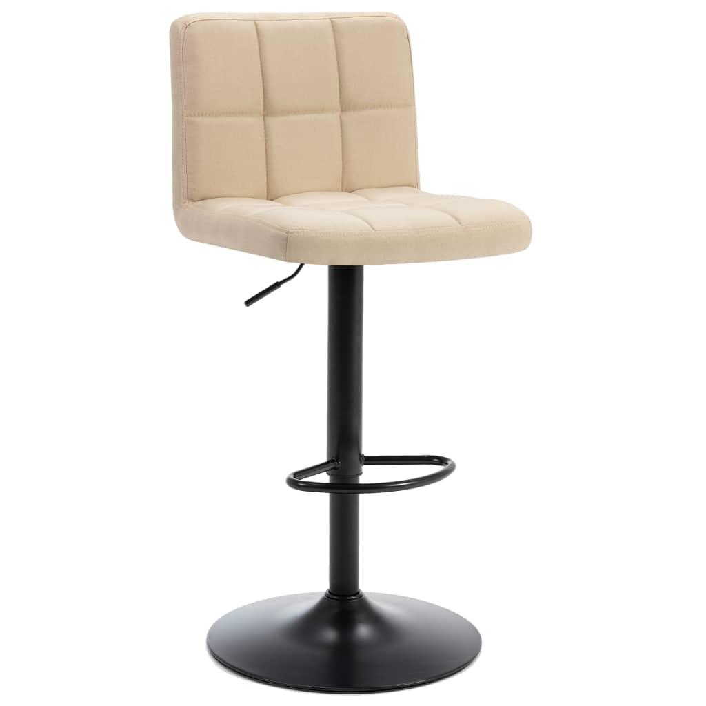 Barová stolička krémová textil
