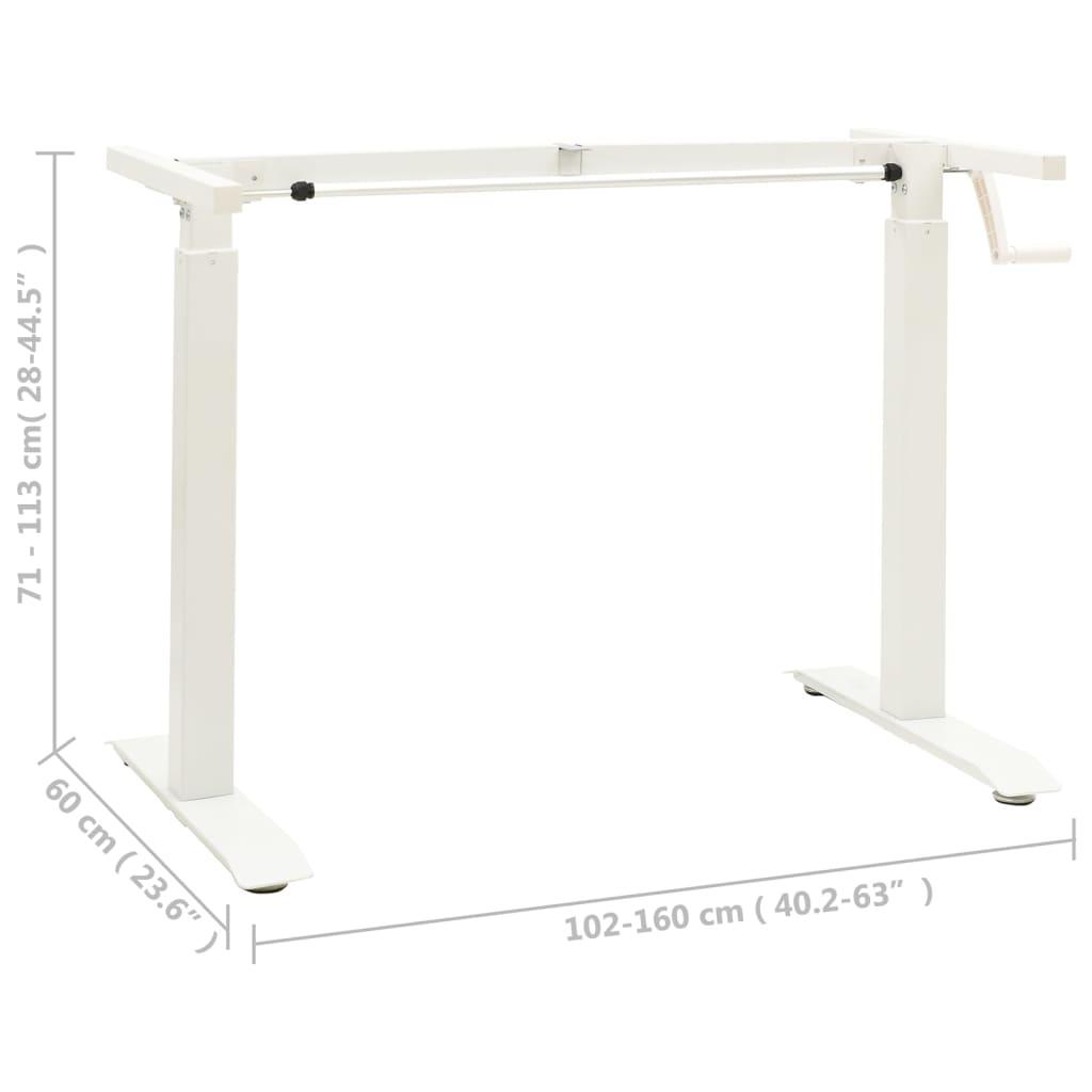 vidaXL Zit-stabureauframe met slinger handmatig wit