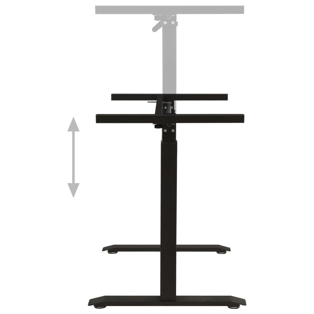 vidaXL Zit-stabureauframe met slinger handmatig zwart