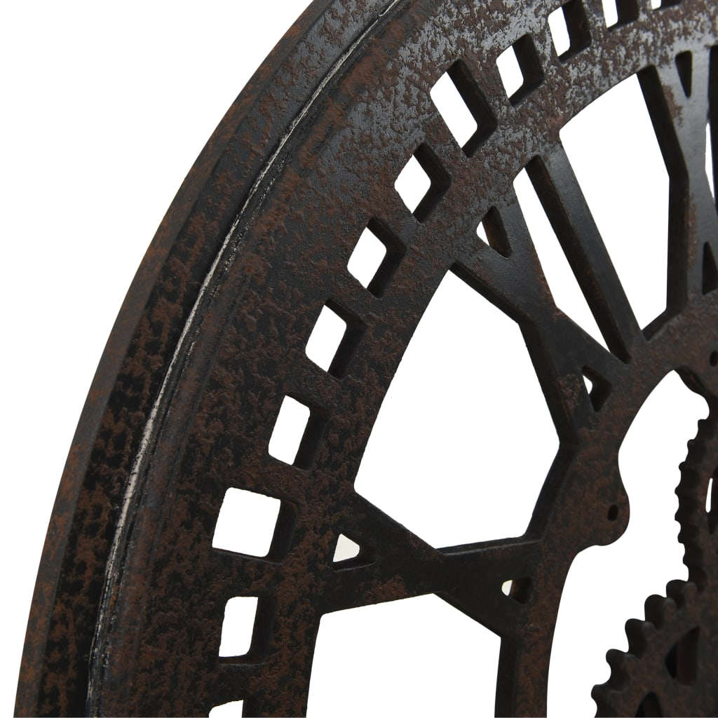 Wandklok 70 cm MDF zwart