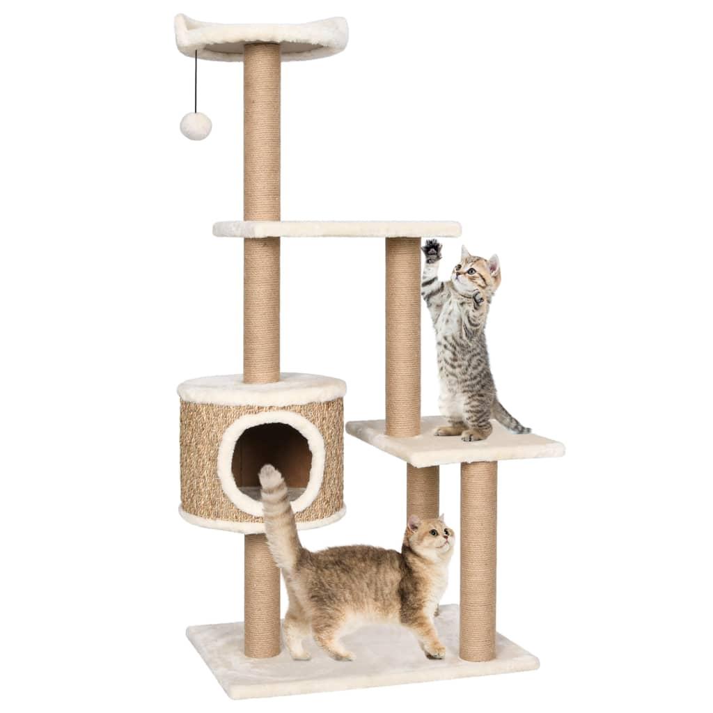 vidaXL Ansamblu pentru pisici cu stâlp de zgâriat 123 cm iarbă de mare imagine vidaxl.ro