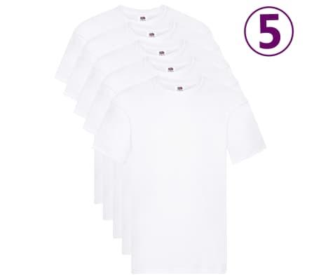 Fruit of the Loom Oryginalne T-shirty, 5 szt., białe, 3XL, bawełna-picture