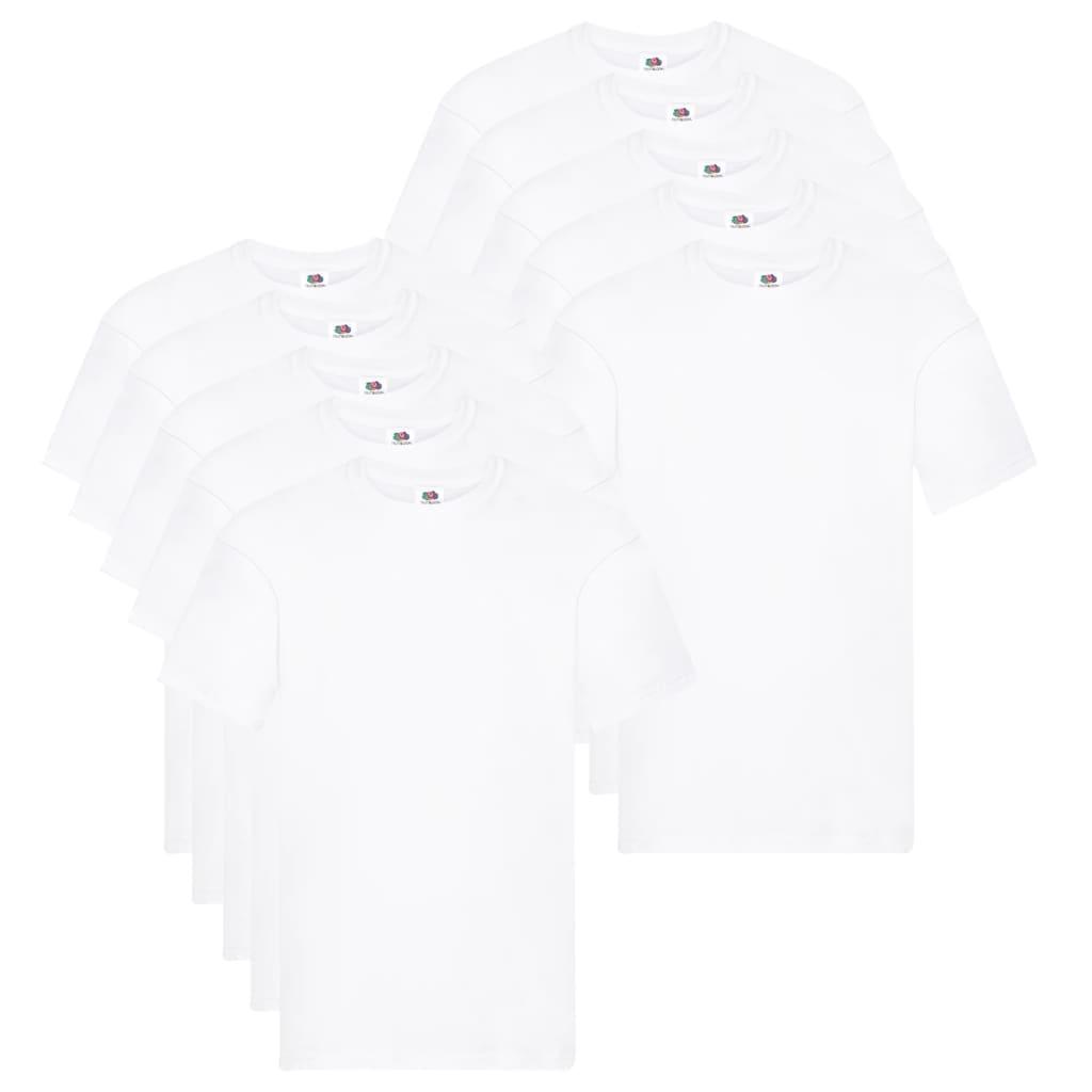 Fruit of the Loom T shirts Original 10 st S katoen wit Nu voor 33.99 euro!