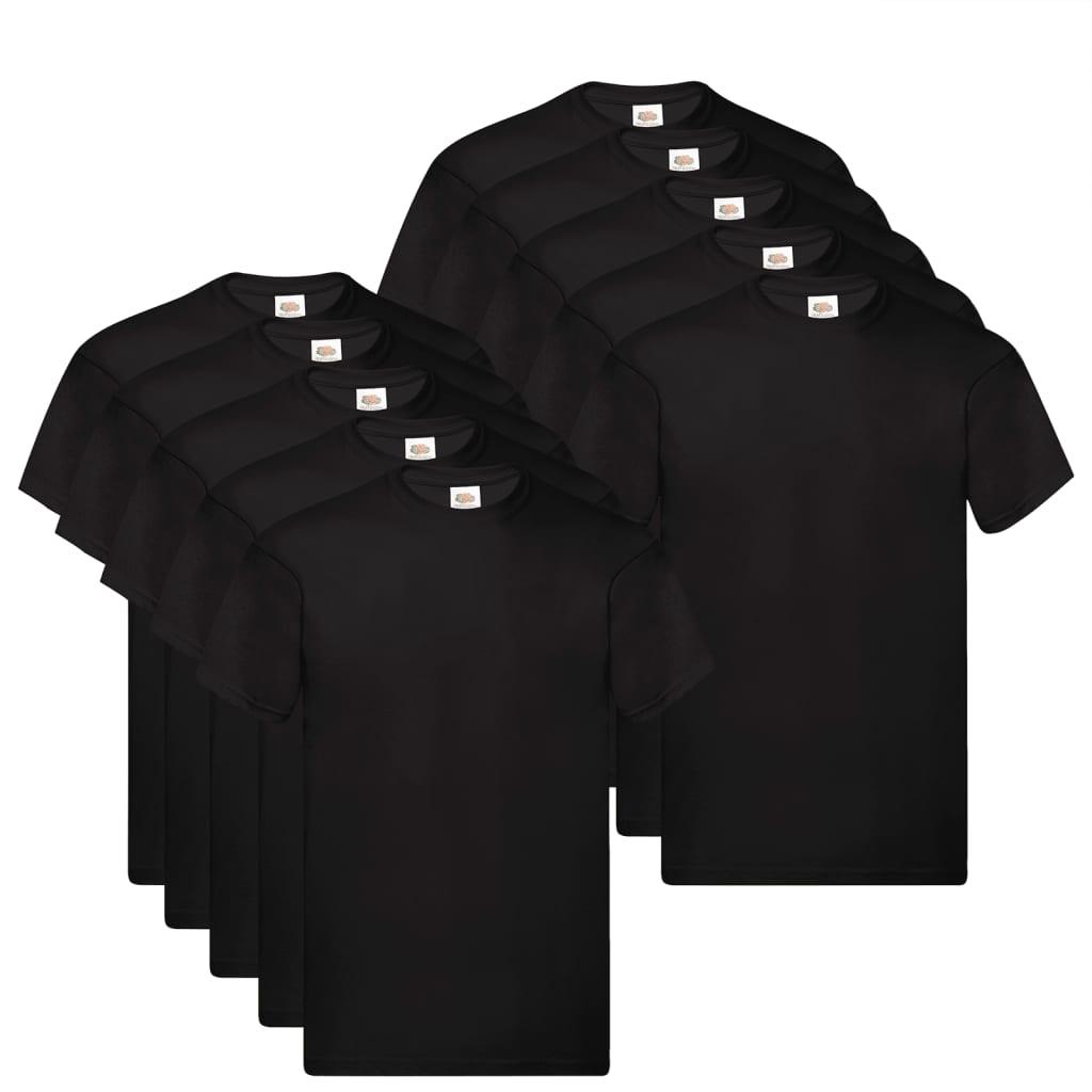 Fruit of the Loom T shirts Original 10 st M katoen zwart