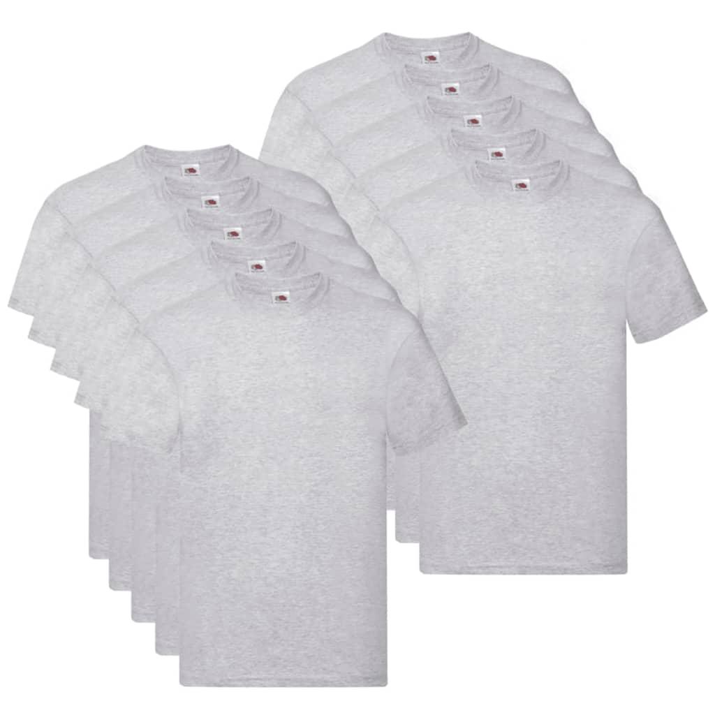 Fruit of the Loom T shirts Original 10 st S katoen grijs Nu voor 33.99 euro!
