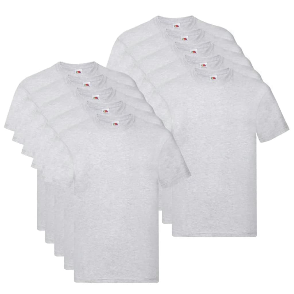Fruit of the Loom T shirts Original 10 st L katoen grijs Nu voor 33.99 euro!
