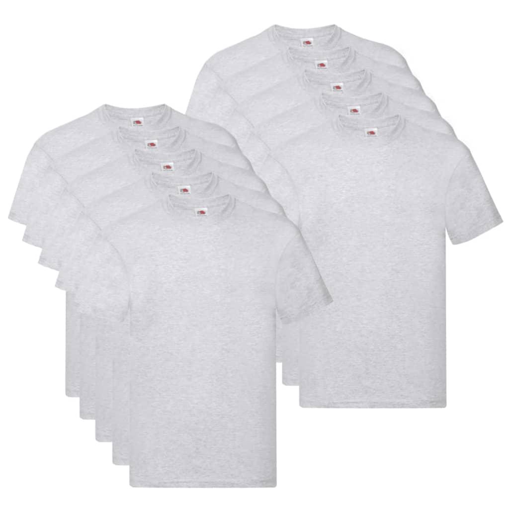 Fruit of the Loom T shirts Original 10 st XL katoen grijs Nu voor 33.99 euro!