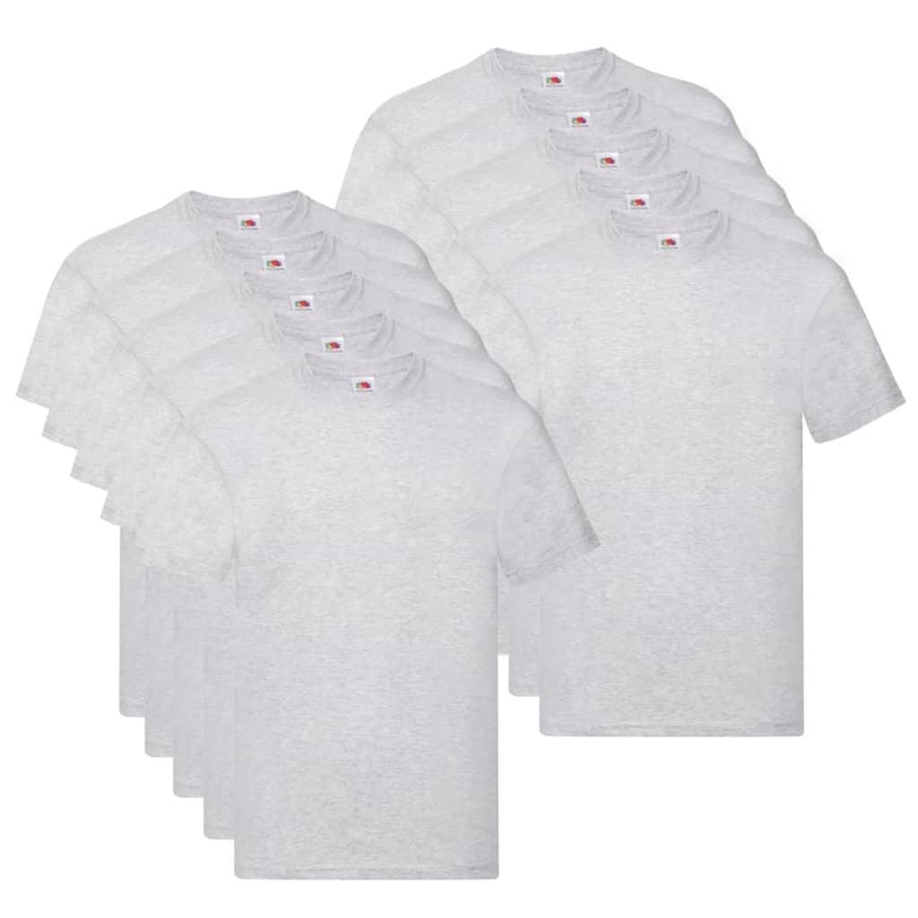 Fruit of the Loom T shirts Original 10 st XXL katoen grijs Nu voor 33.99 euro!