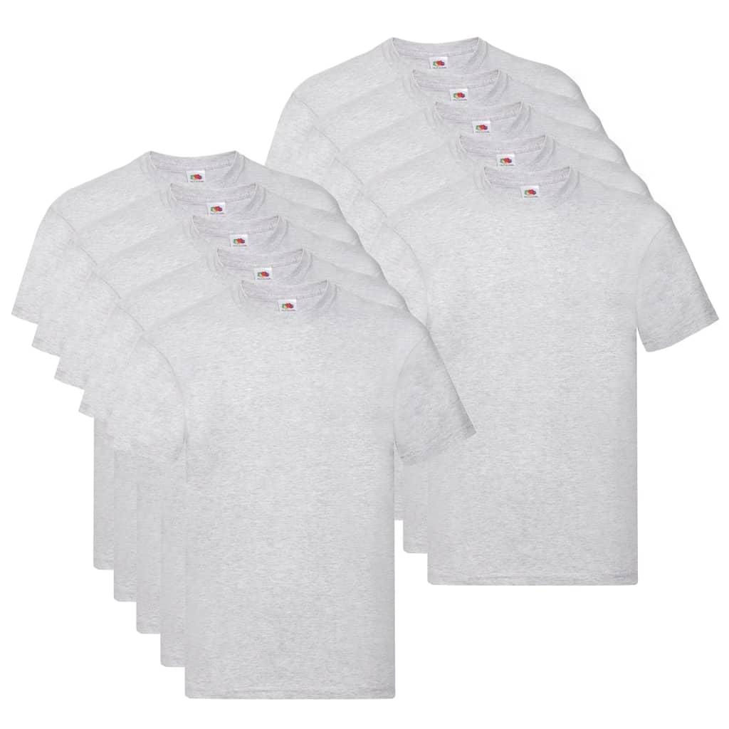 Fruit of the Loom T shirts Original 10 st 3XL katoen grijs Nu voor 44.99 euro!