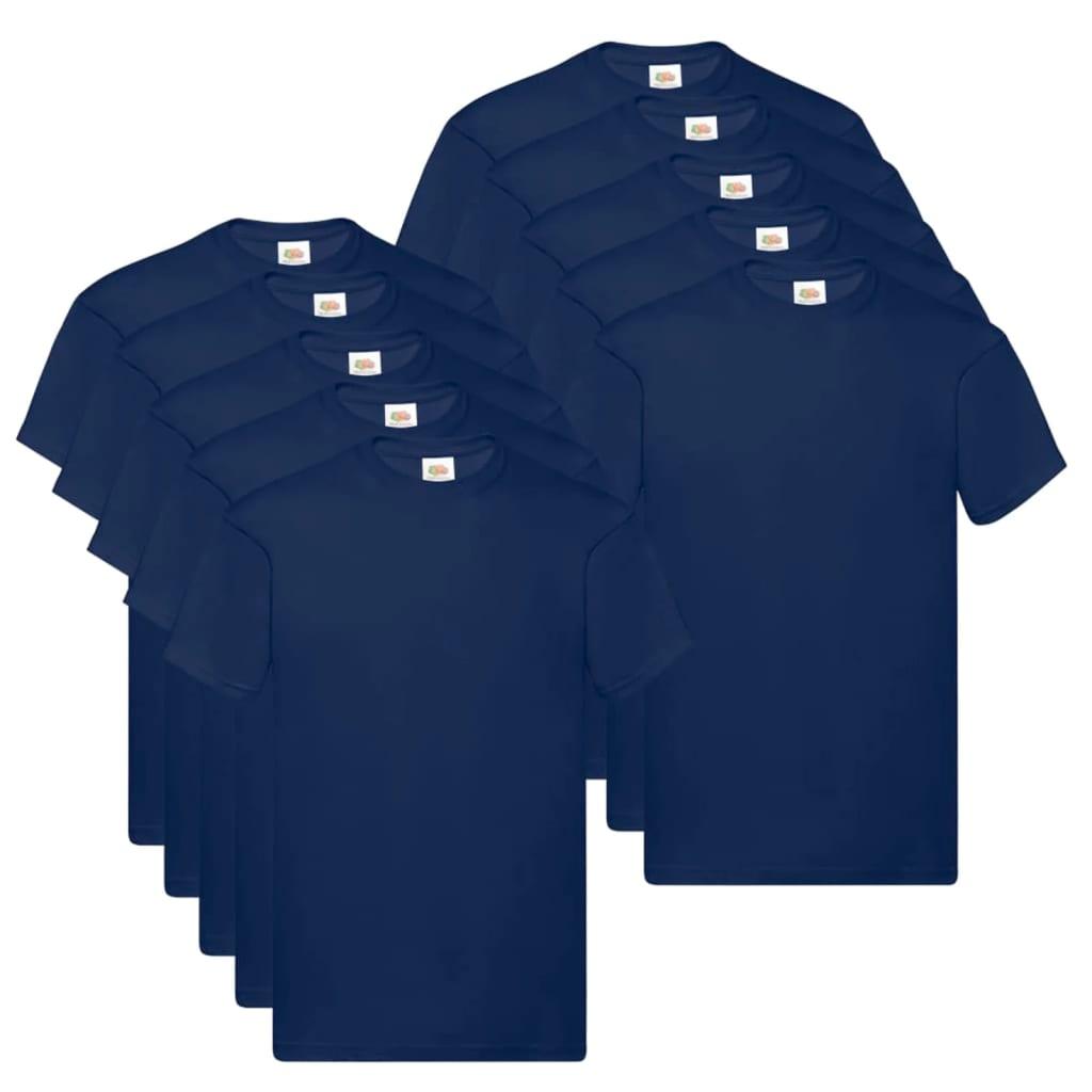 Fruit of the Loom T shirts Original 10 st 3XL katoen marineblauw Nu voor 44.99 euro!