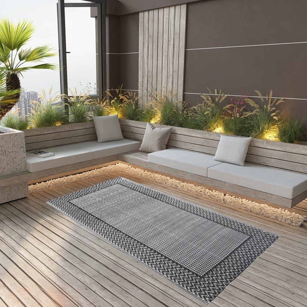 vidaXL Venkovní koberec šedý 80 x 150 cm PP
