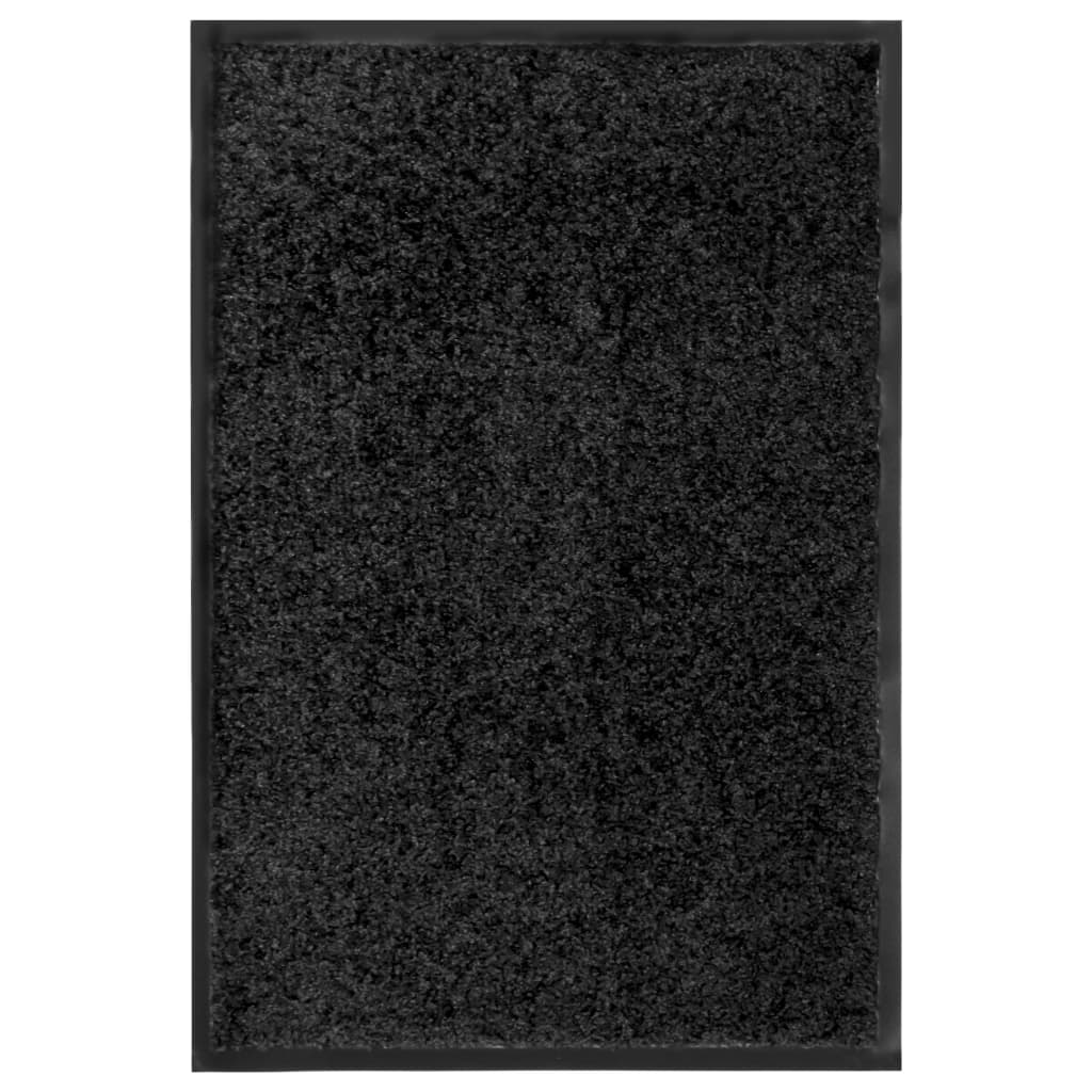 vidaXL Covoraș de ușă lavabil, negru, 40 x 60 cm poza 2021 vidaXL