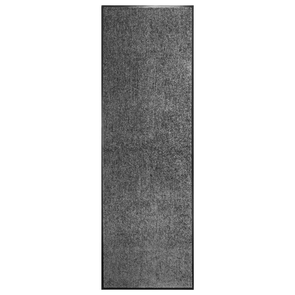 vidaXL Covoraș de ușă lavabil antracit 60x180 cm poza 2021 vidaXL