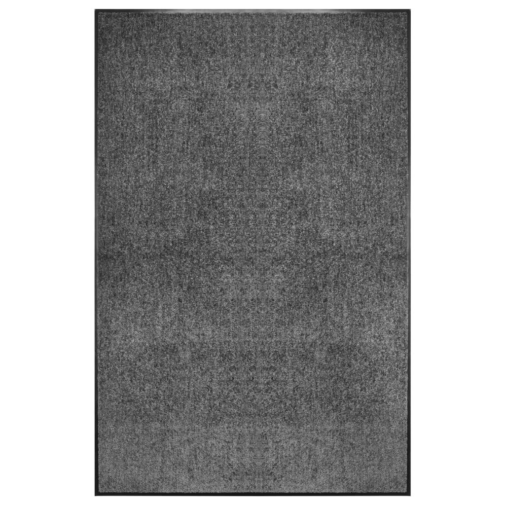 vidaXL Covoraș de ușă lavabil, antracit, 120 x 180 cm poza 2021 vidaXL