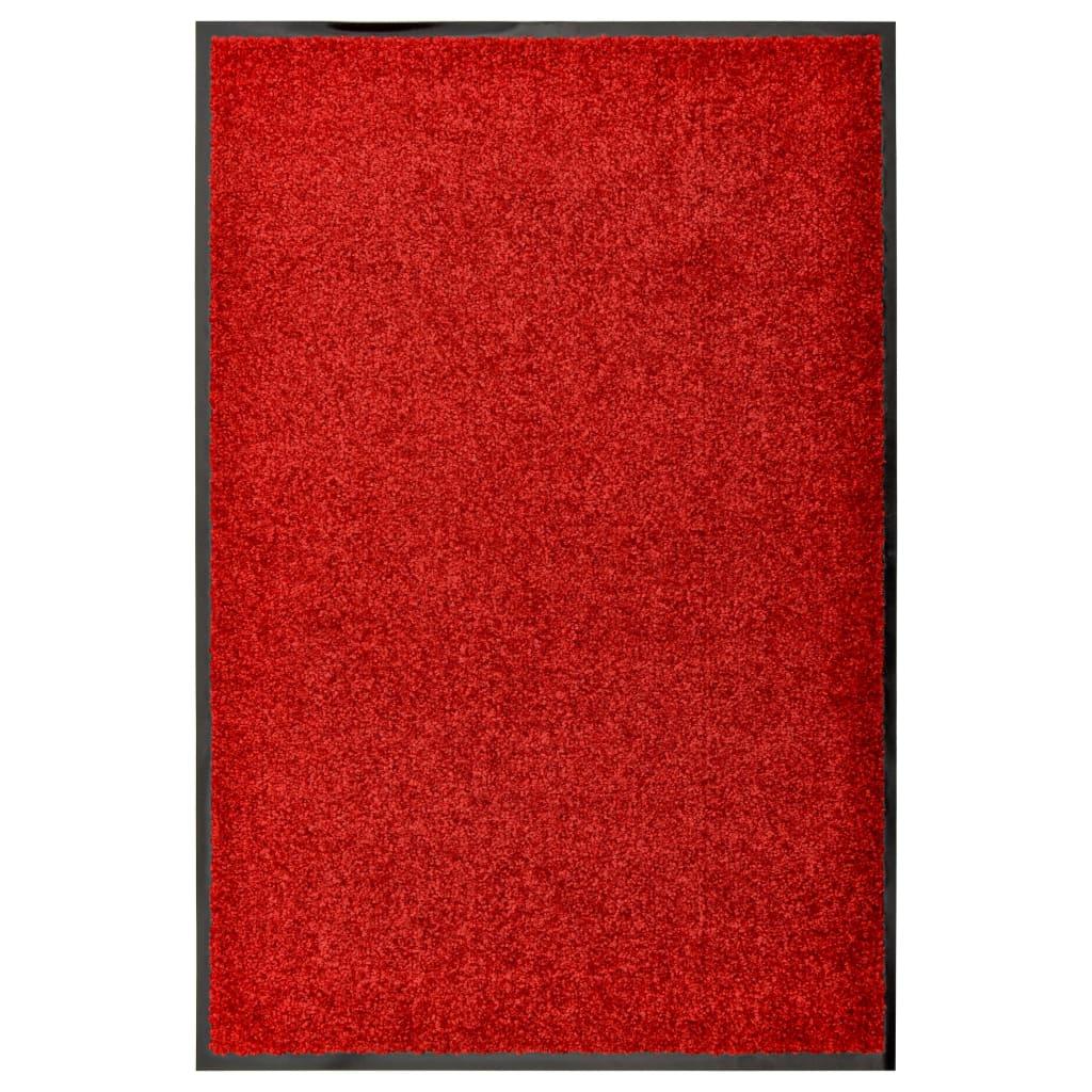 vidaXL Fußmatte Waschbar Rot 60×90 cm