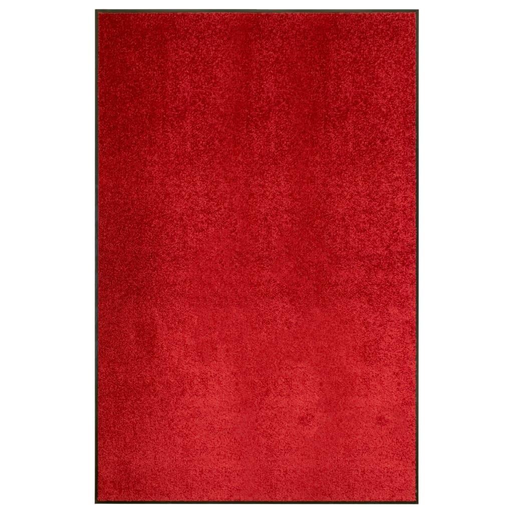 vidaXL Covoraș de ușă lavabil, roșu, 120 x 180 cm imagine vidaxl.ro