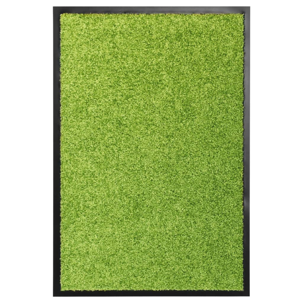 vidaXL Covoraș de ușă lavabil, verde, 40 x 60 cm poza vidaxl.ro