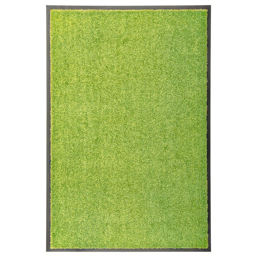 vidaXL Covoraș de ușă lavabil, verde, 60 x 90 cm vidaxl.ro