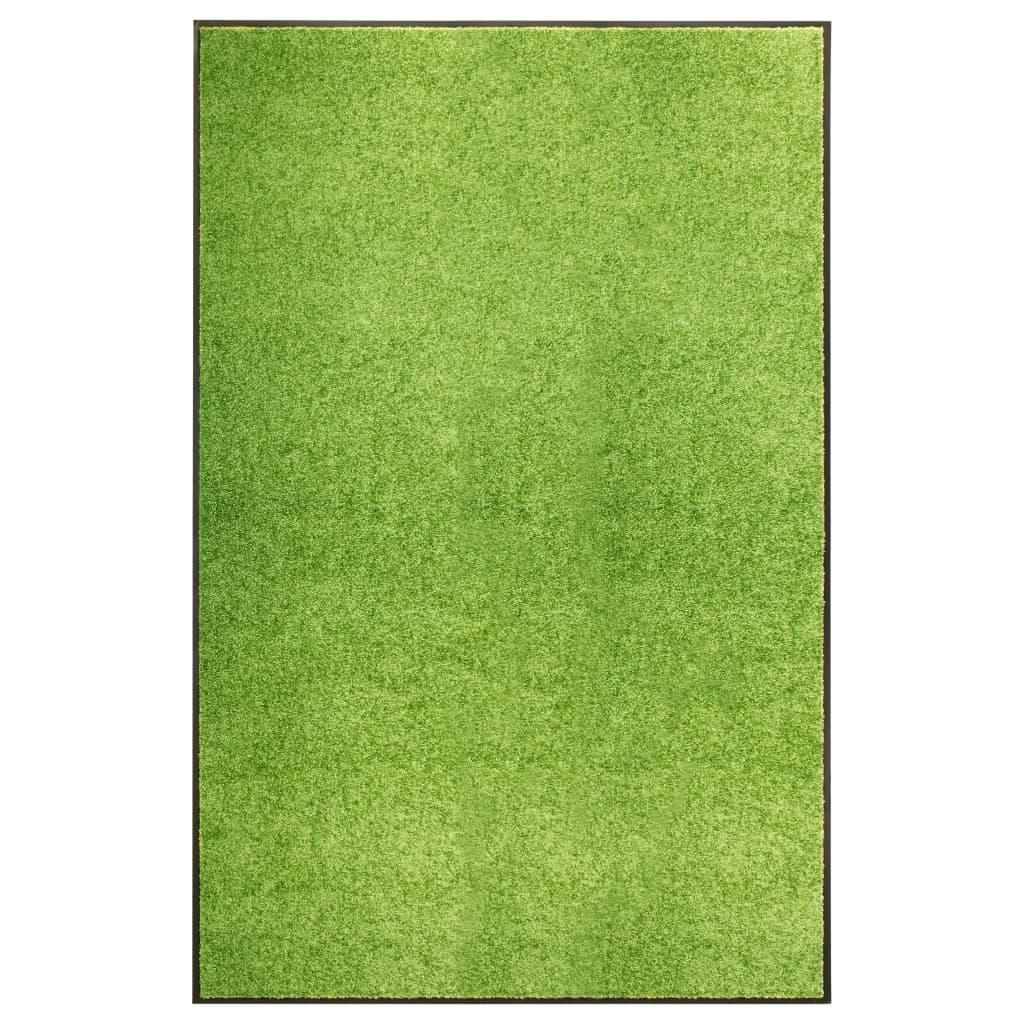 vidaXL Covoraș de ușă lavabil, verde, 120 x 180 cm imagine vidaxl.ro