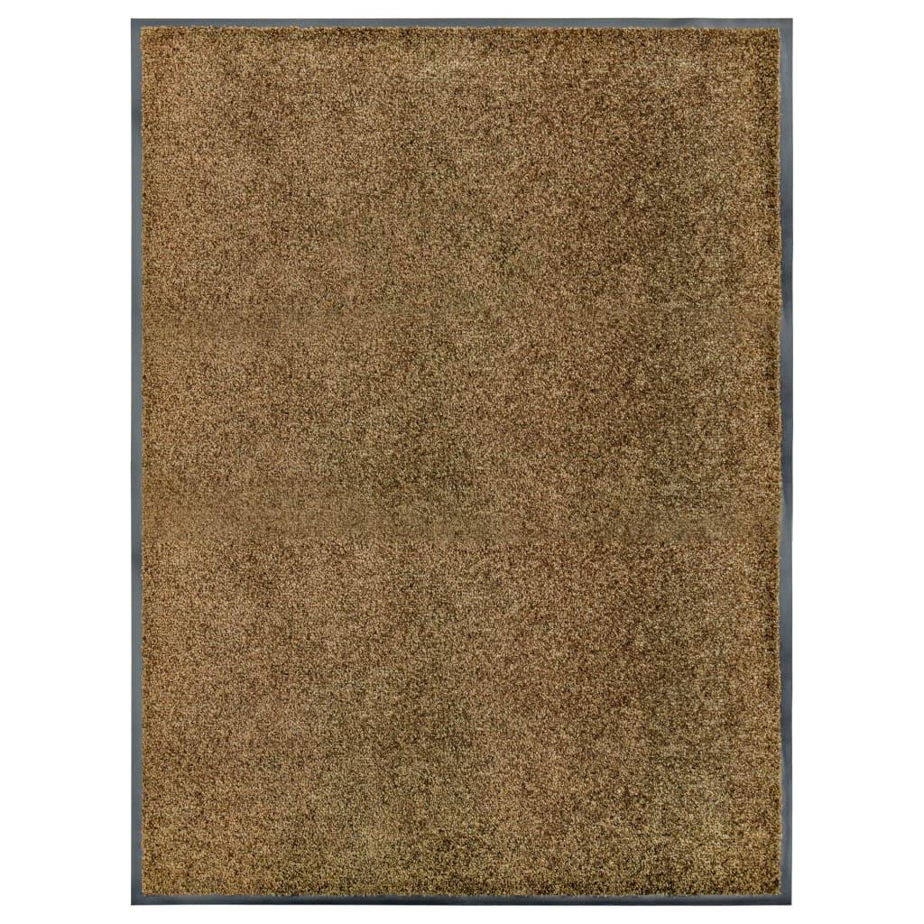 Fußmatte Waschbar Braun 90×120 cm