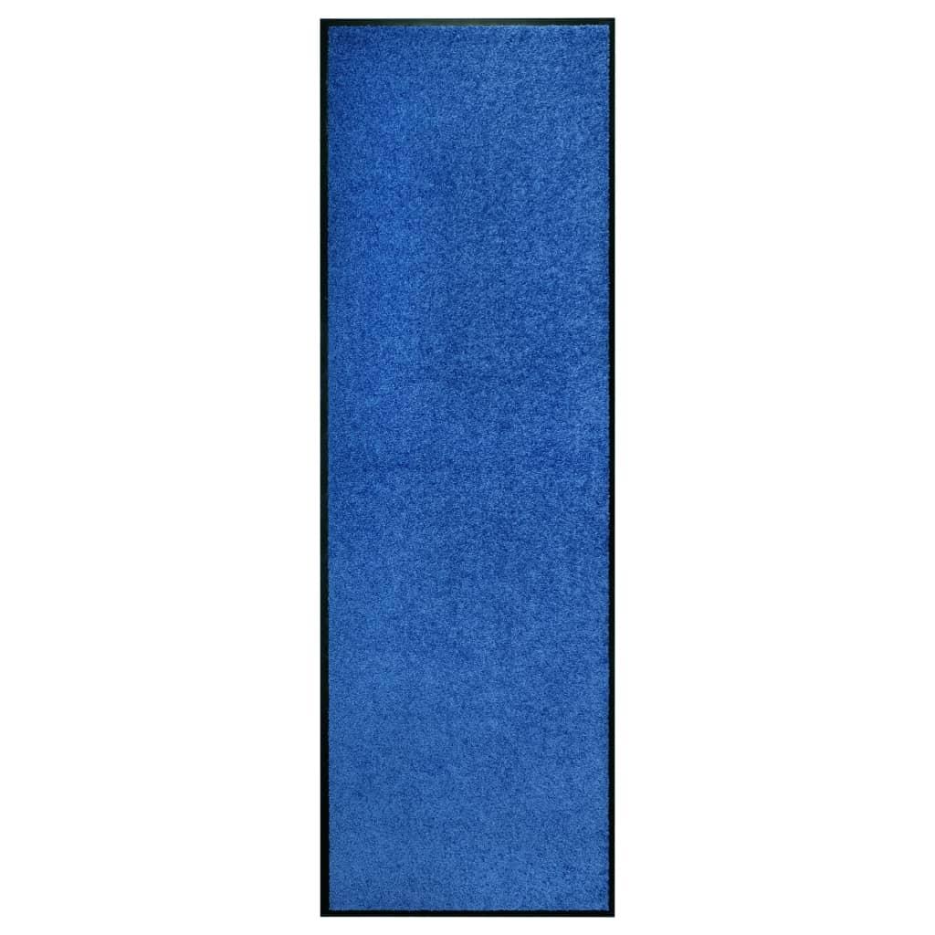 vidaXL Covoraș de ușă lavabil, albastru, 60 x 180 cm vidaxl.ro