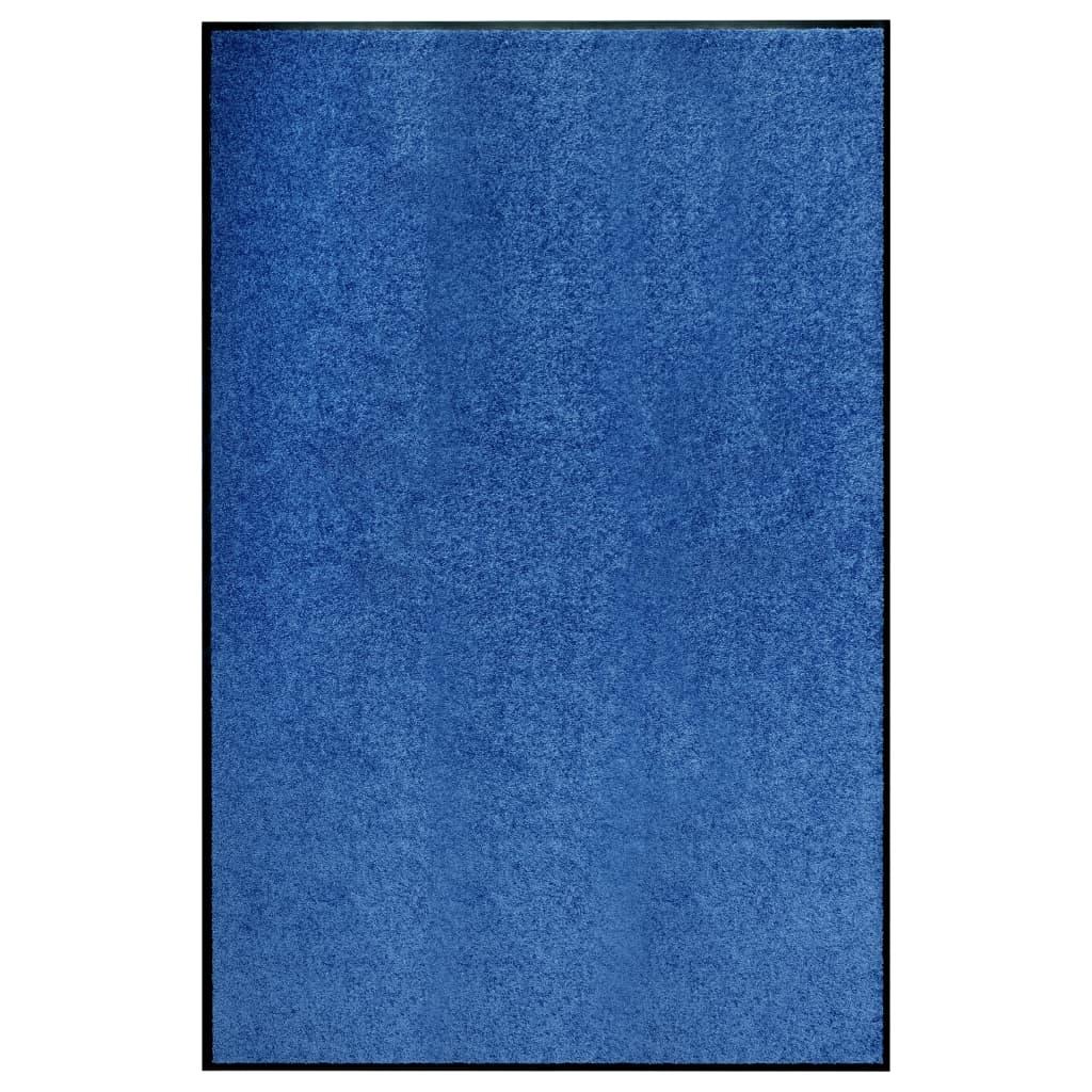vidaXL Covoraș de ușă lavabil, albastru, 120 x 180 cm vidaxl.ro