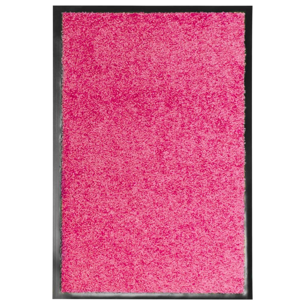 vidaXL Covoraș de ușă lavabil, roz, 40 x 60 cm imagine vidaxl.ro