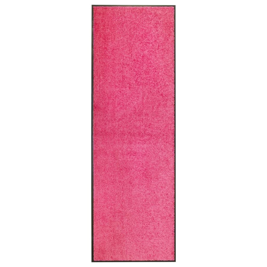 vidaXL Covoraș de ușă lavabil, roz, 60 x 180 cm vidaxl.ro