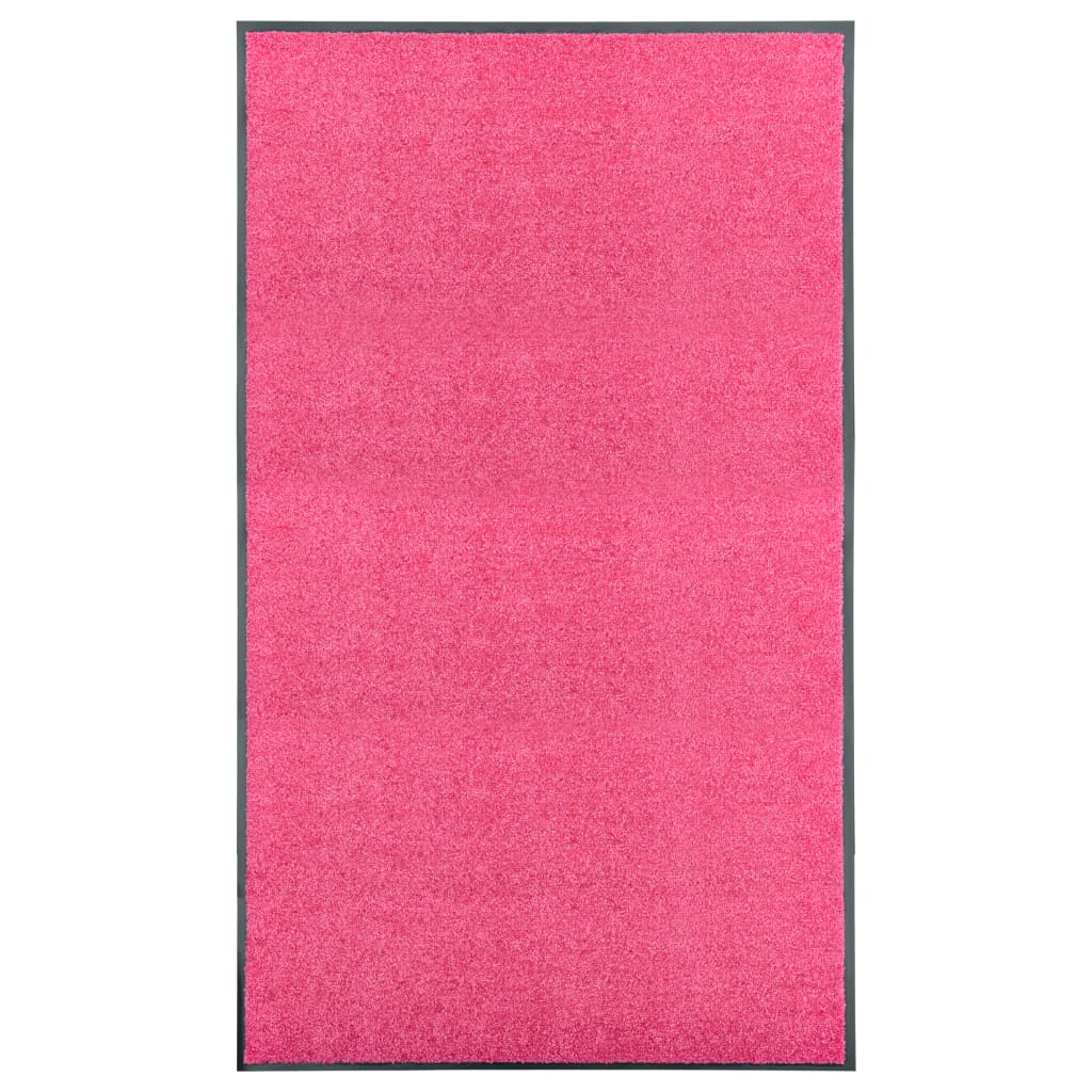 vidaXL Covoraș de ușă lavabil, roz, 90 x 150 cm poza 2021 vidaXL