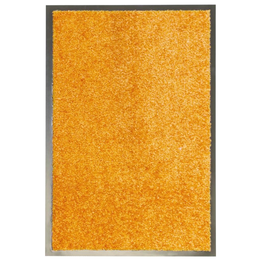 vidaXL Covoraș de ușă lavabil, portocaliu, 40 x 60 cm vidaxl.ro