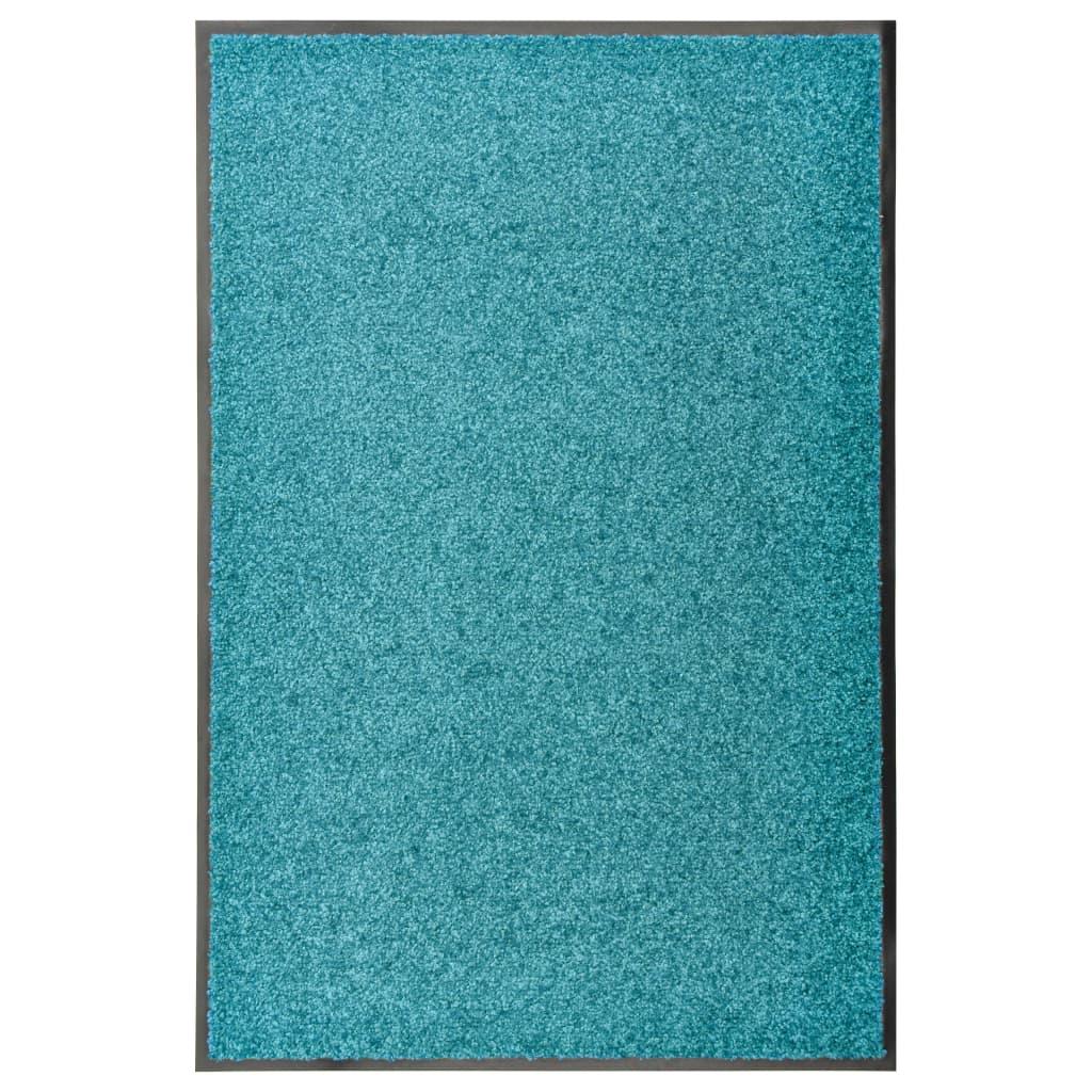 Fußmatte Waschbar Cyan 60×90 cm