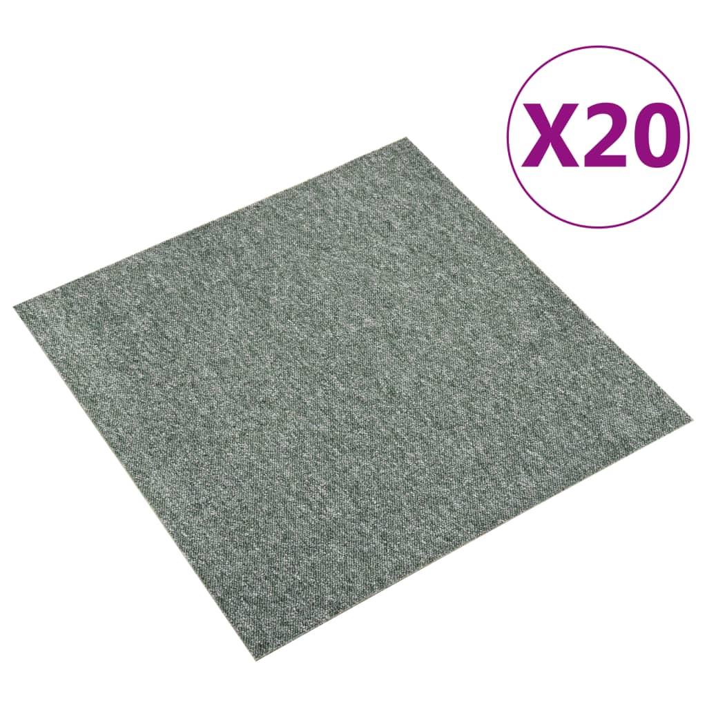 vidaXL Plăci de pardoseală, 20 buc., verde, 50 x 50 cm, 5 m² vidaxl.ro