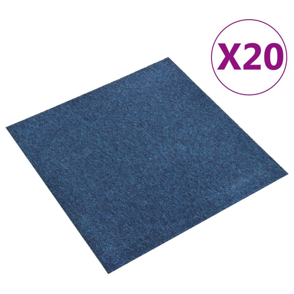 vidaXL Plăci de pardoseală, 20 buc., albastru închis, 50 x 50 cm, 5 m² poza vidaxl.ro