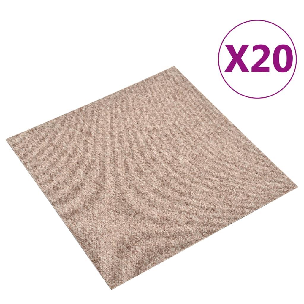 vidaXL Plăci de pardoseală, 20 buc., bej, 50 x 50 cm, 5 m² vidaxl.ro