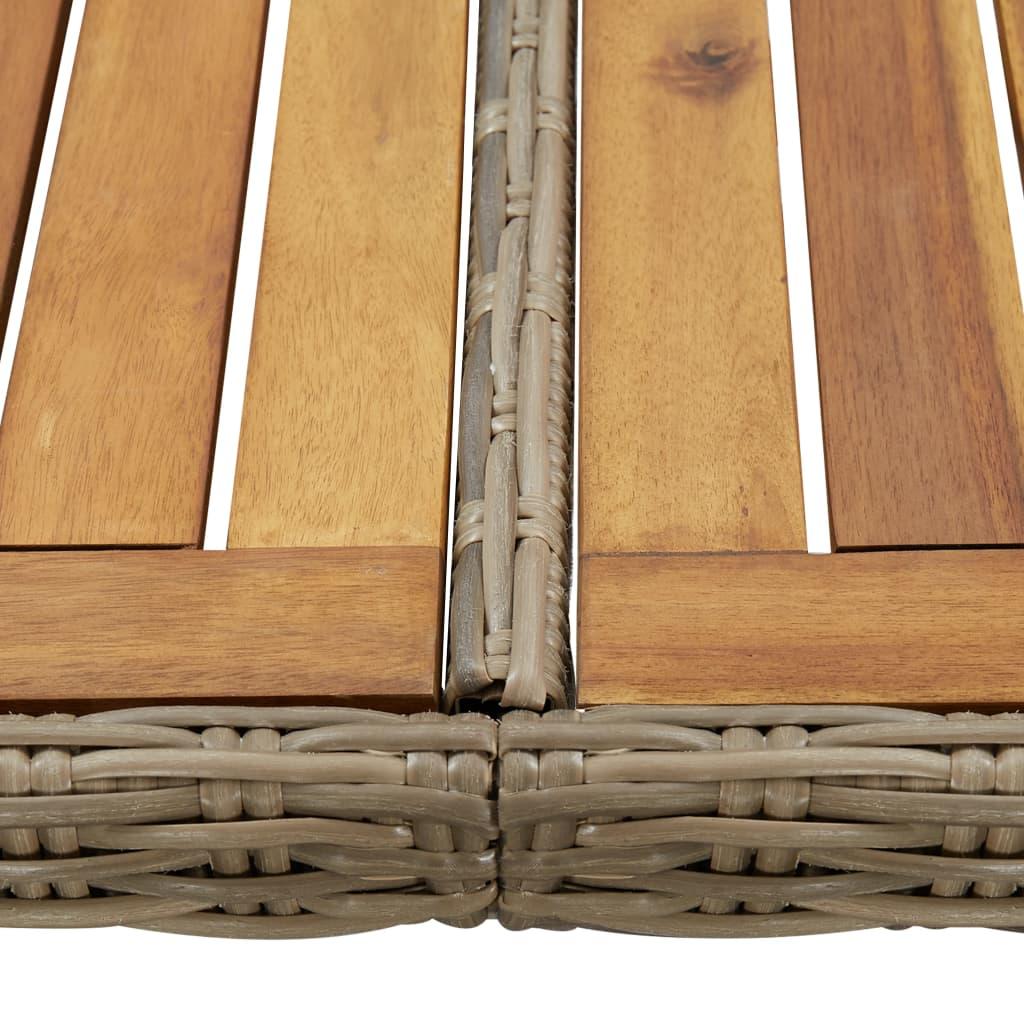 vidaXL Tuintafel 200x100x74 cm poly rattan bruin