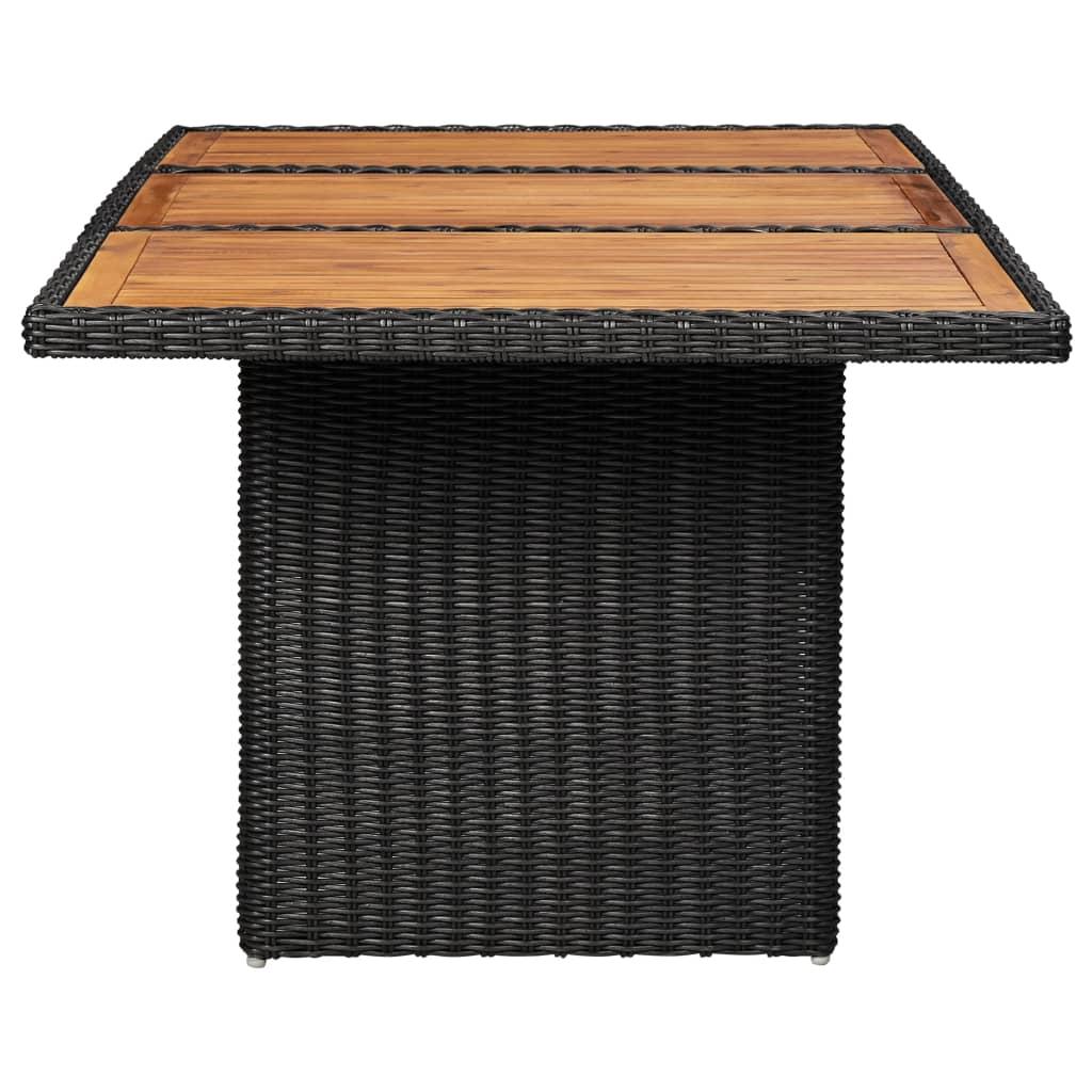 vidaXL Tuintafel 200x100x74 cm poly rattan zwart
