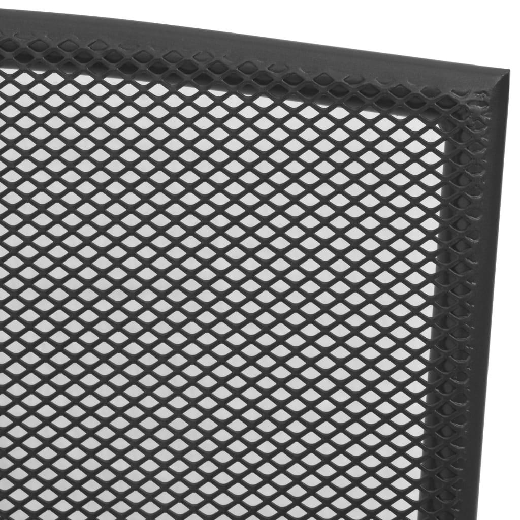 vidaXL Tuinstoelen 4 st mesh ontwerp staal antraciet