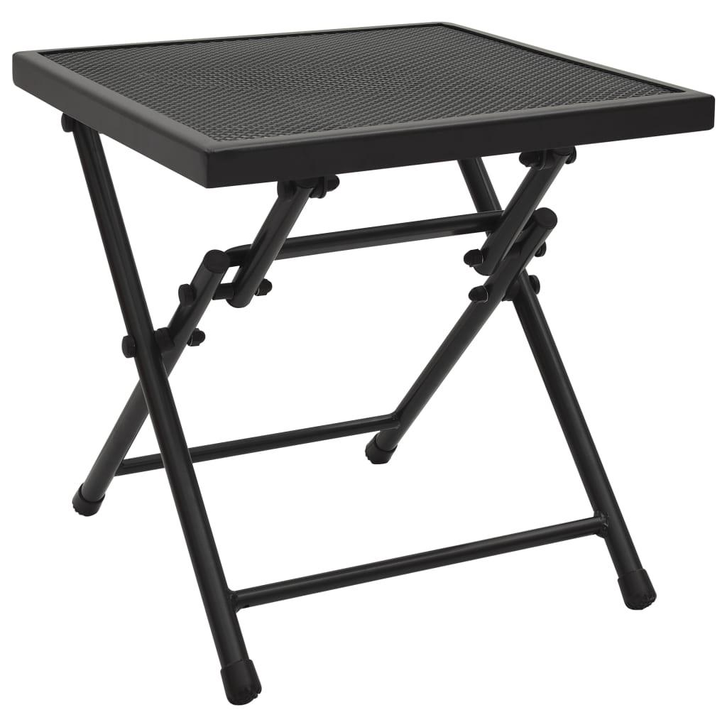 Skládací pletivový stůl 38 x 38 x 38 cm ocel antracitový