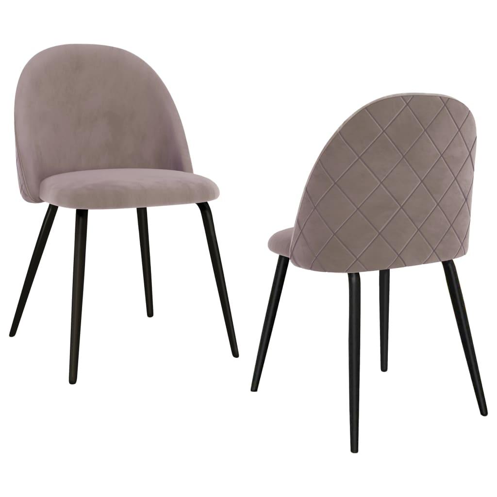 vidaXL spisebordsstole 2 stk. stof pink
